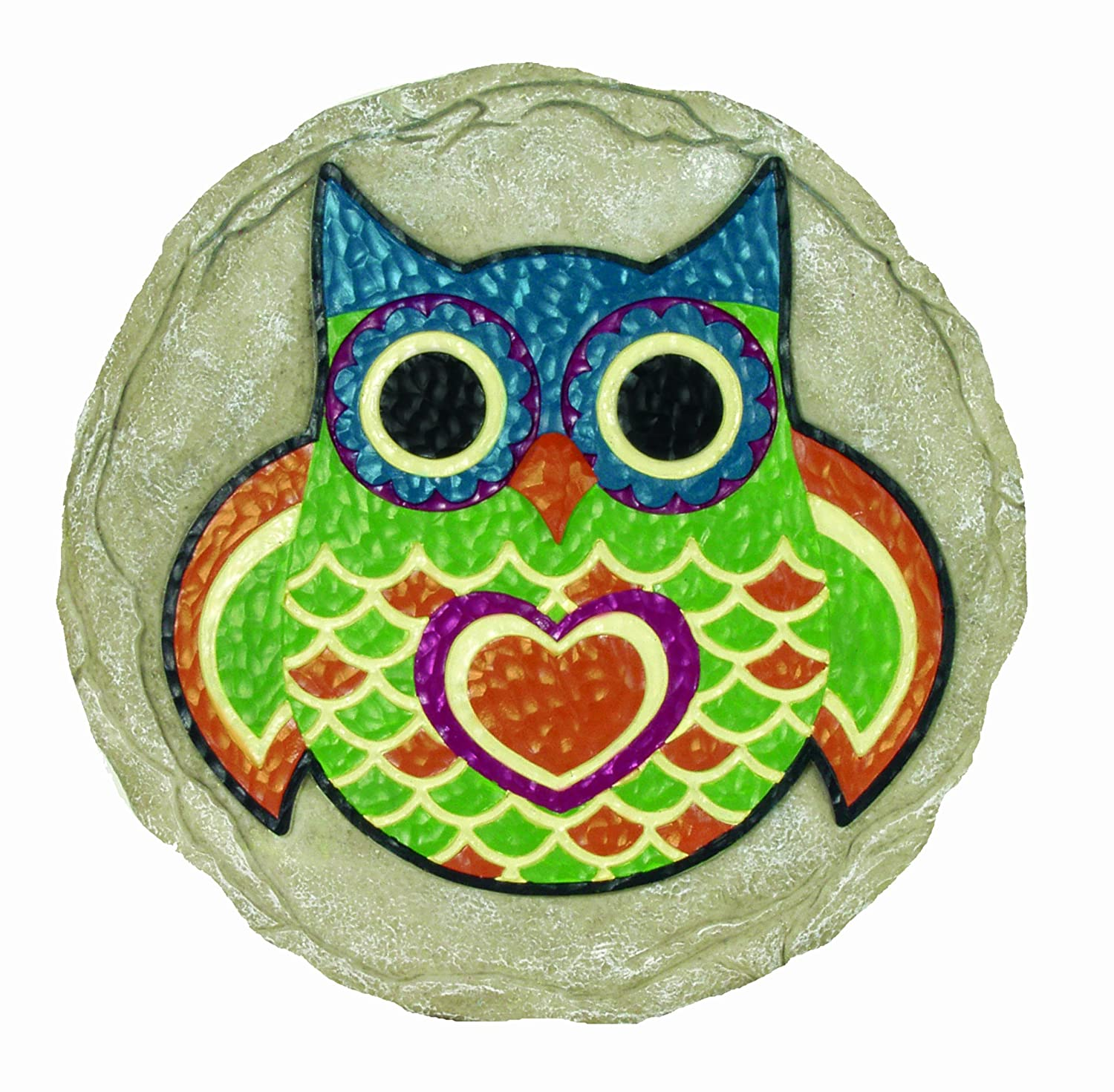 Amazon.com : Spoontiques Owl Stepping Stone : Outdoor Decorative ...