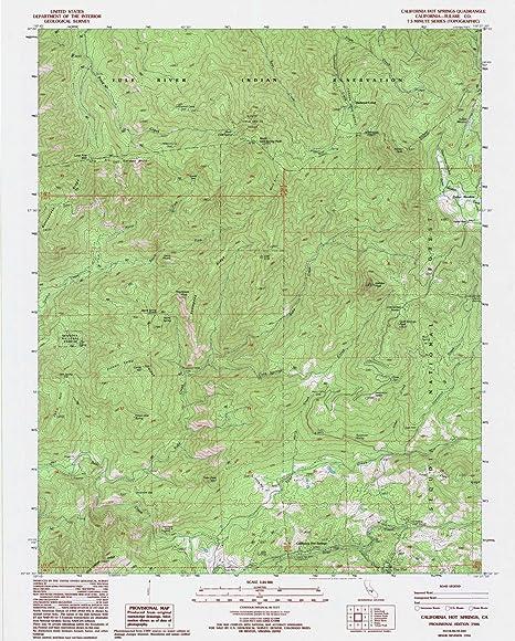 Map Of California Hot Springs.Amazon Com Yellowmaps California Hot Springs Ca Topo Map 1 24000