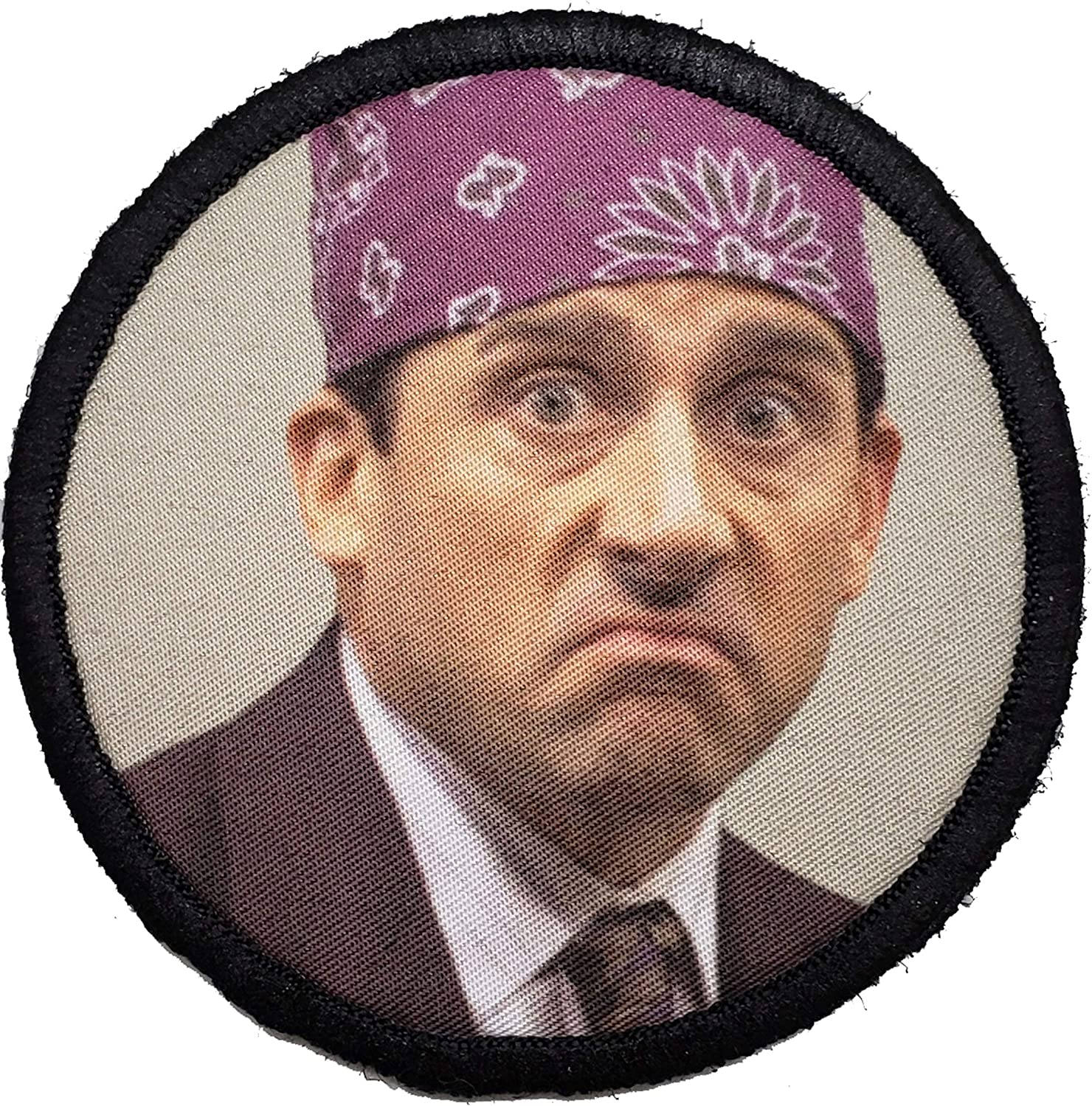 "The Office Prison Mike Morale Patch. Perfect for Your Tactical Military Army Gear, Backpack, Operator Baseball Cap, Plate Carrier or Vest. 2x3"" Hook Patch. Made in The USA"