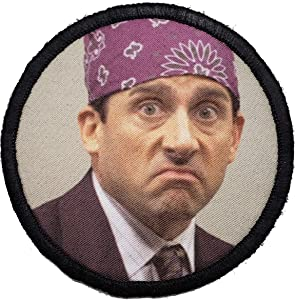 """The Office Prison Mike Morale Patch. Perfect for Your Tactical Military Army Gear, Backpack, Operator Baseball Cap, Plate Carrier or Vest. 2x3"""" Hook Patch. Made in The USA"""