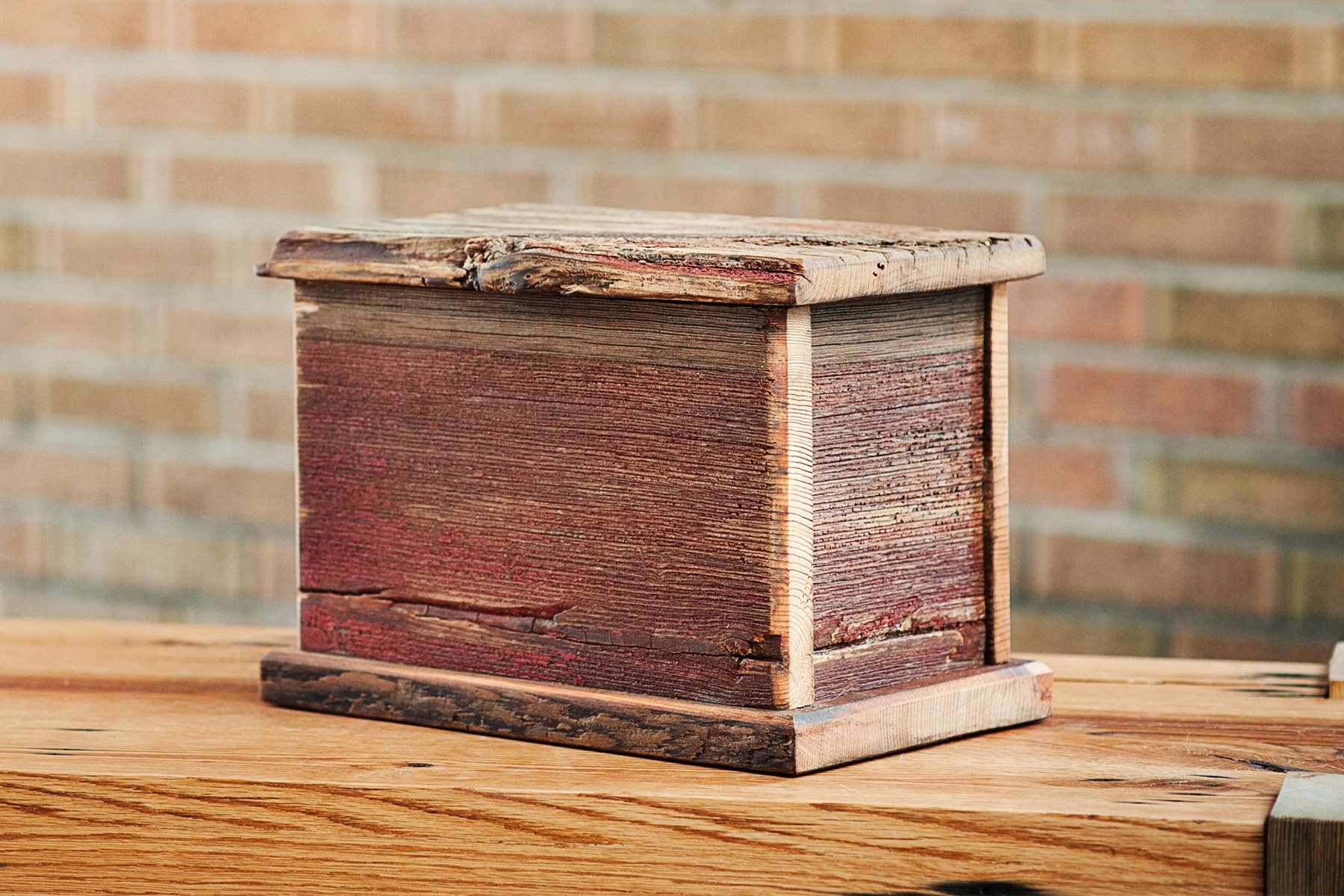 Barnwood Funeral Urn in Pine - Handcrafted in Wisconsin, USA From Vintage Barn Wood - Cremation Urn For Human Ashes & Cremated Remains - Burial Urn - Decorative Urn - Wood Urn by Northwoods Casket Company (Image #4)