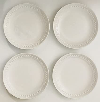 White Ceramic Made In Portugal | Set of 4 Lunch | Salad | Dessert Plates |  sc 1 st  Amazon.com & Amazon.com: White Ceramic Made In Portugal | Set of 4 Lunch | Salad ...
