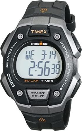 Amazon.com: Timex Men's T5K821 Ironman Classic 30 Black/Orange ...