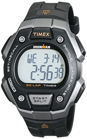 81c5eaa3f828 Amazon.com  Timex Men s T5K821 Ironman Classic 30 Black Orange Resin ...