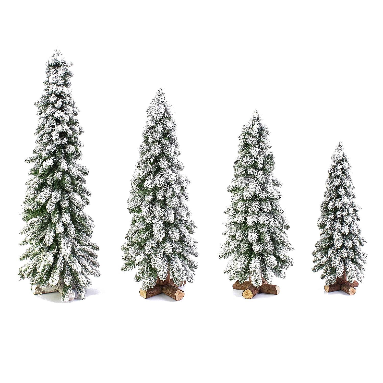 60cm artplants K/ünstlicher Christbaum Montreal wei/ß beschneit /Ø25cm