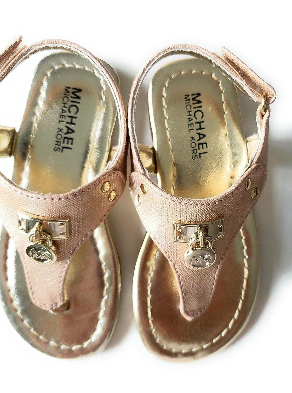 1d0577ad6defc Amazon.com  Michael Kors Michael Rose Gold Thong Toddler Girls Sandals  (10T)  Shoes