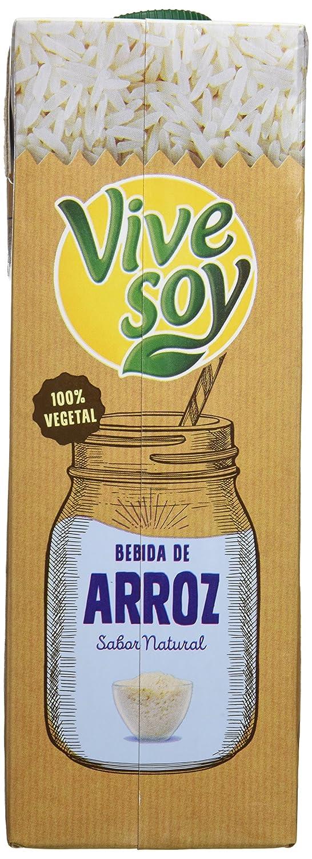 Vivesoy Bebida de arroz - Paquete de 6 x 1 l - Total: 6 l: Amazon.es: Alimentación y bebidas