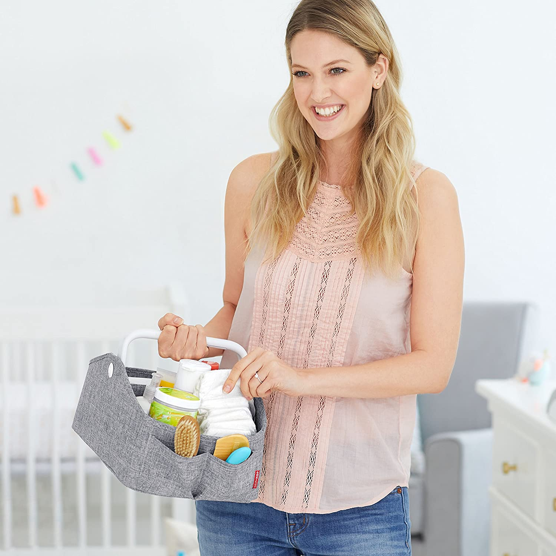 Skip Hop Nursery Style Light-Up Diaper Caddy, Grey 304300