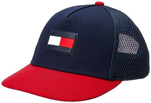 21616a4cf9b63 Tommy Hilfiger Men s Flag Flat Brim Trucker Cap