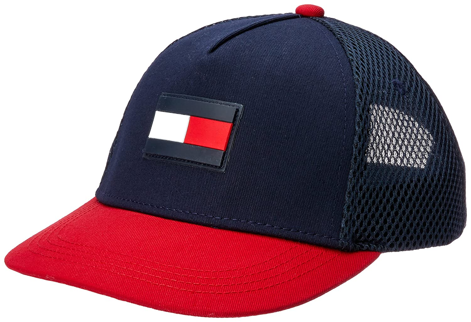 Tommy Hilfiger AM0AM04188 FLAG FLAT CAPPELLO Uomo BLU RED L/XL THA03539