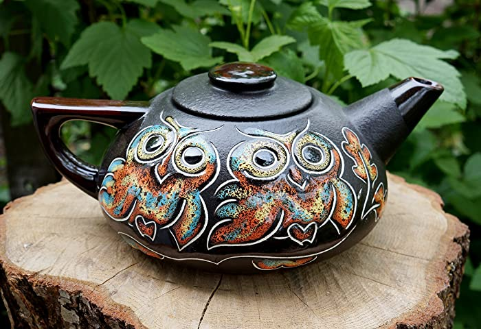 Handmade Ceramic Teapot, Owl Gifts, House Warming Gift, Pottery Teapot, Kitchen  Gifts