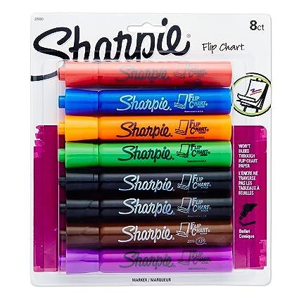 Amazon com sharpie 22480pp flip chart markers bullet tip assorted