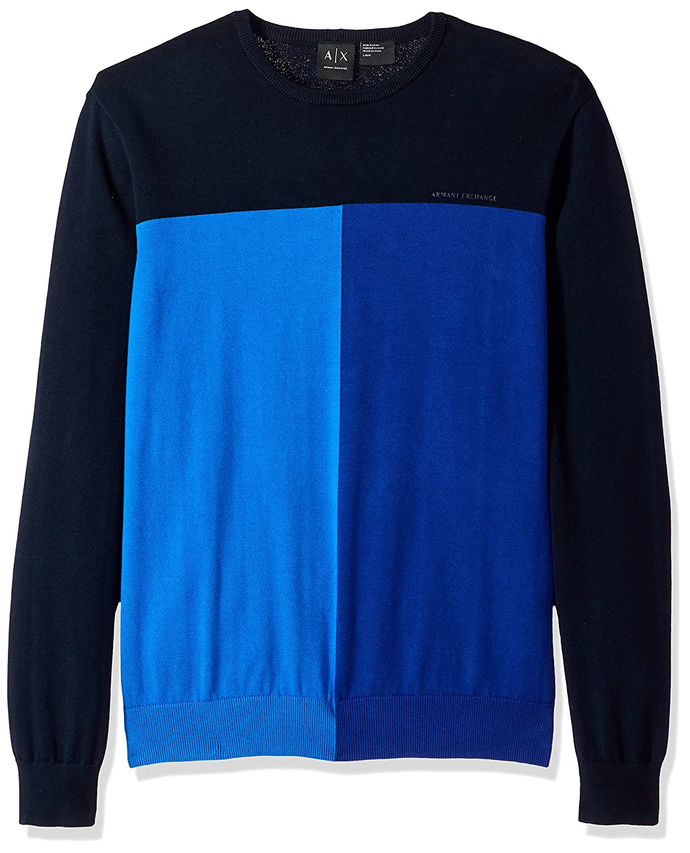 A|X Armani Exchange Men's Short Sleeve Logo Knit