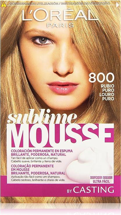 LOréal Sublime Mousse - Rubio Puro 800 - Coloración ...