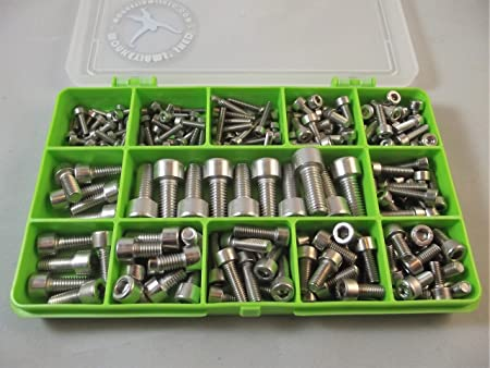M4/et M5./ En acier inoxydable A2-70. lot de 270/pi/èces M3 Kit de boulon//Vis /à t/ête hexagonale