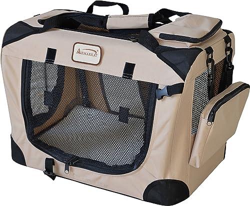 Armarkat PC201B Beige Multiple Pockets Pet Carrier