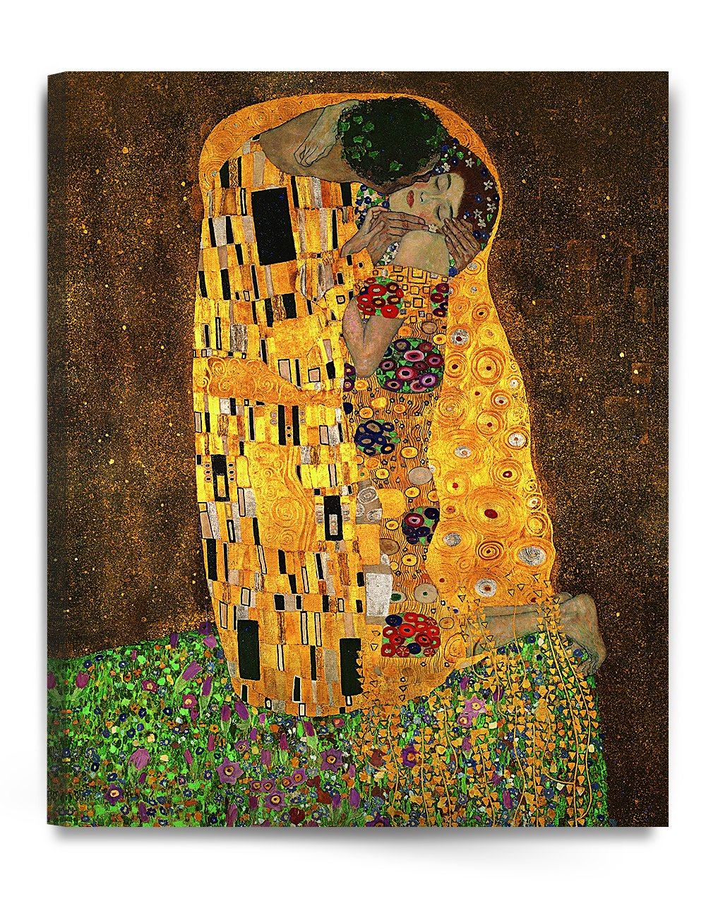 """Amazon.com: DecorArts - The Kiss, by Gustav Klimt. Giclee printed on canvas  stretched gallery wrapped, ready to hang 24x30"""": Posters & Prints"""