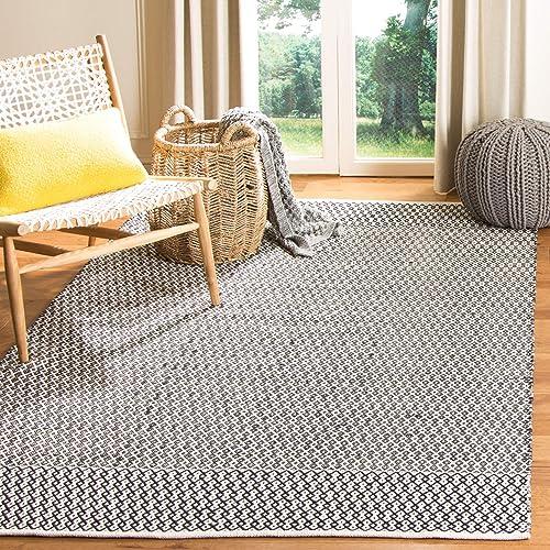 Safavieh MTK339D-4SQ Area – Rugs, 4 Square, Ivory Black