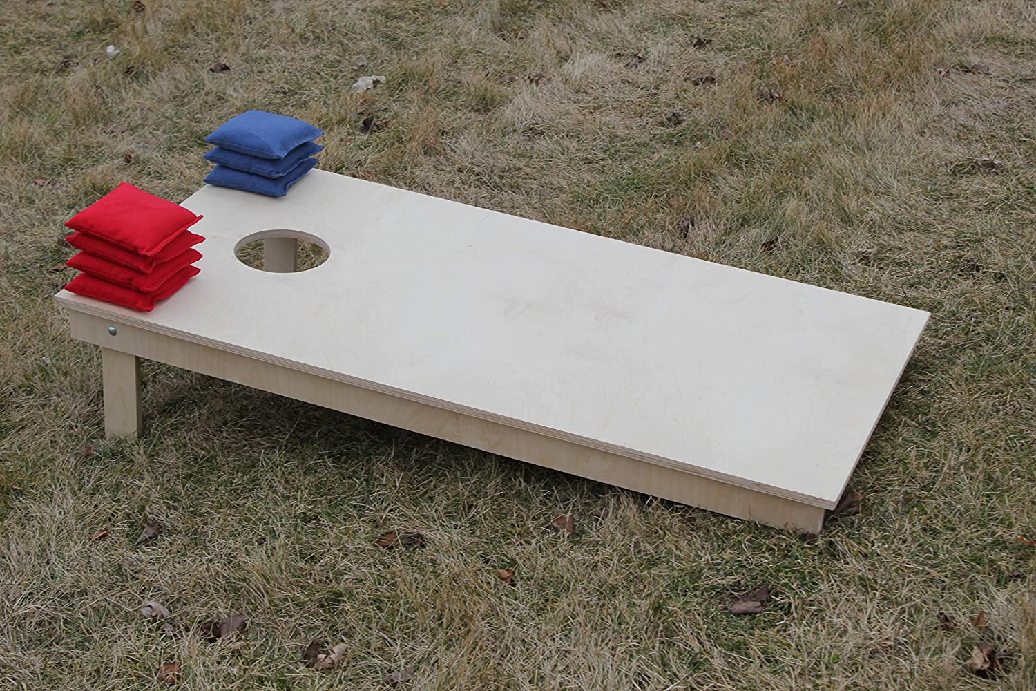 BackYardGamesUSA Unfinished Cornhole Boards BEANBAG TOSS Game Set w Pick Your Colors Bags
