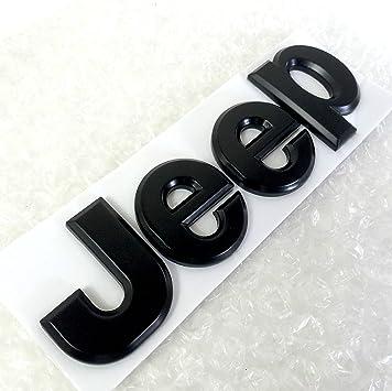 Schwarz Matt Jeep Selbstklebend Metall Aufkleber Logo Badge Emblem Aufkleber Auto