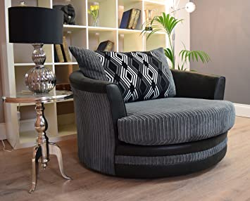 ScS Voyage/Modena Large Twister Chair - Grey/Black & ScS Voyage/Modena Large Twister Chair - Grey/Black: Amazon.co.uk ...
