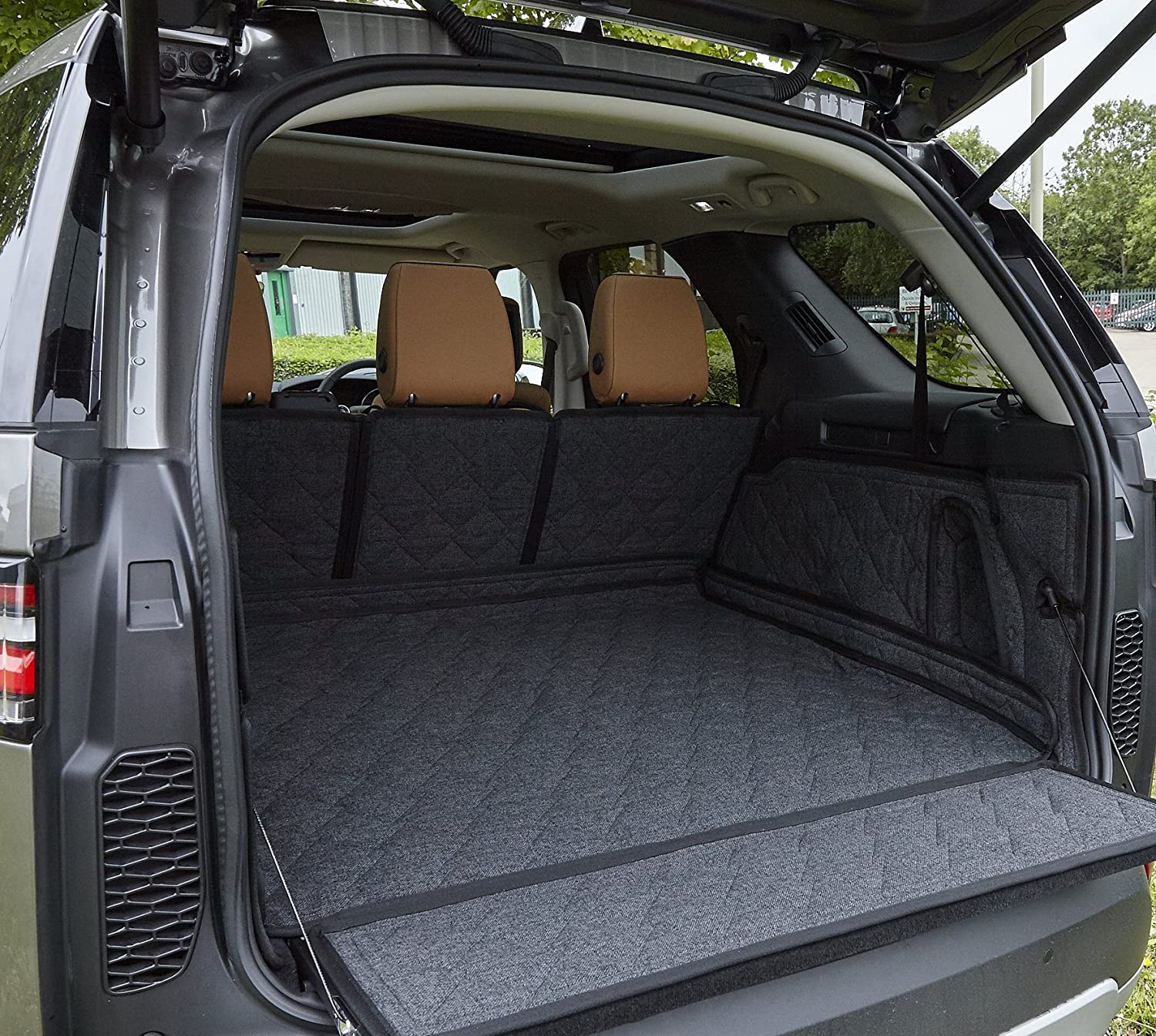 Over The Top Premium Quality Custom Car Boot Liner with Extender, Black