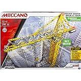 Spin Master Juego de construcción Tower Crane, 1741 piezas (Meccano 6024905)
