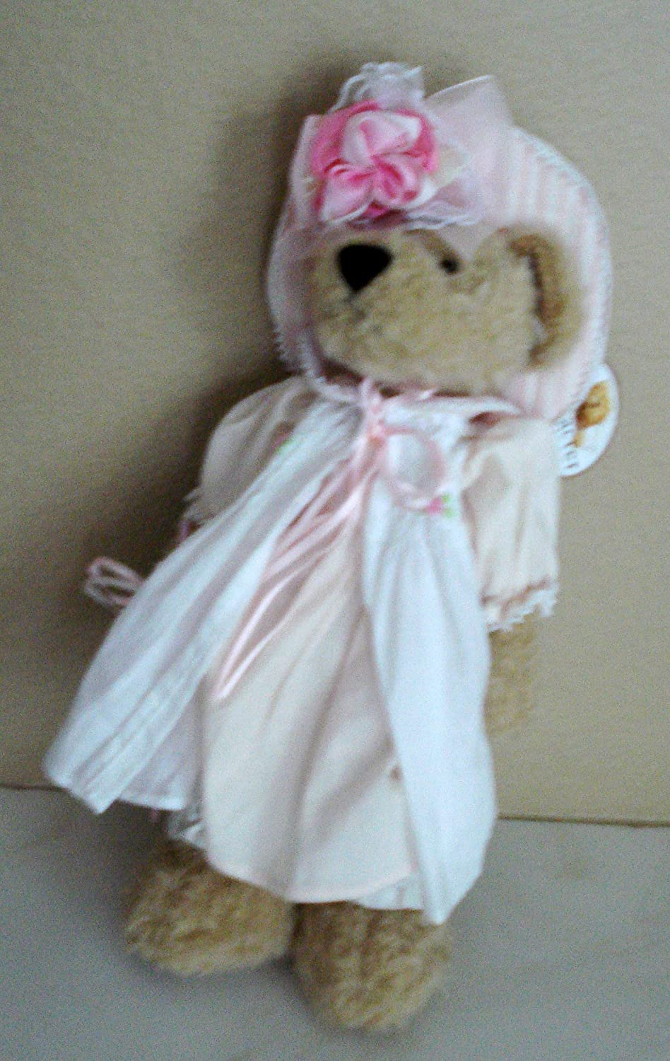 Amazon.com  Character Teds Plush Teddy Bear with Fancy Hat and Dress  Holding an Umbrella - 14 Inches  Toys   Games 26281ddaf54f