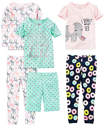 89999cbdec Simple Joys by Carter s Baby Girls 6-Piece Snug Fit Cotton Pajama Set