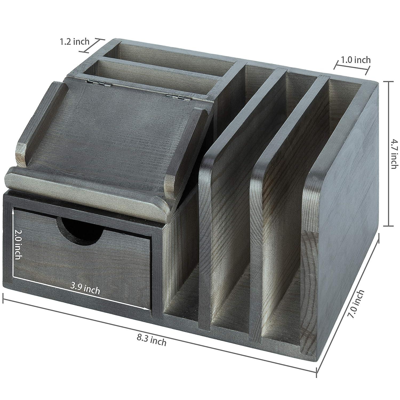 Amazon.com: MyGift - Organizador de escritorio de madera ...