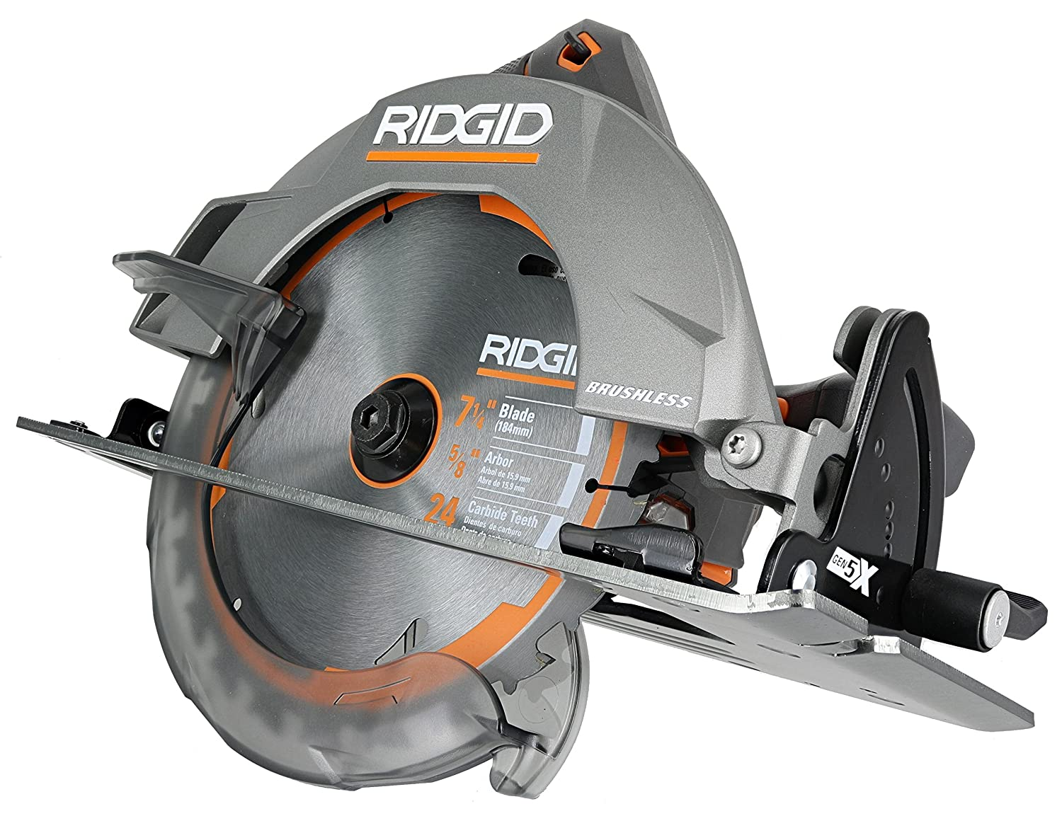 Ridgid r8653 gen5x brushless 18v lithium ion cordless 7 14 inch 3 ridgid r8653 gen5x brushless 18v lithium ion cordless 7 14 inch 3 800 rpm circular saw with bevel and depth adjustment batteries not included greentooth Gallery