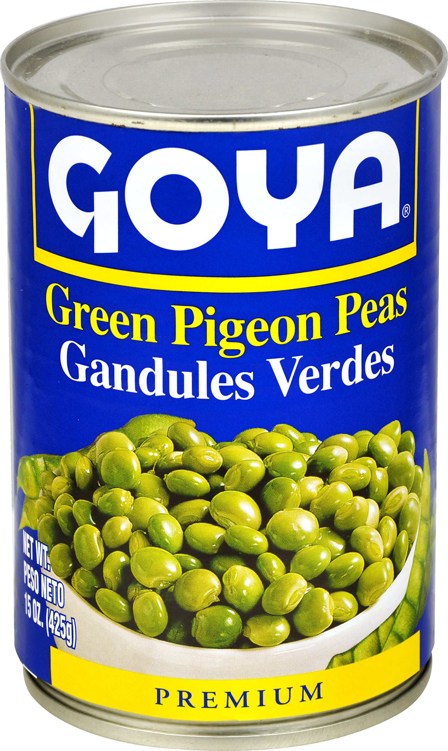 Goya Foods Green Pigeon Peas in Can, 15-Ounce (Pack of 24)