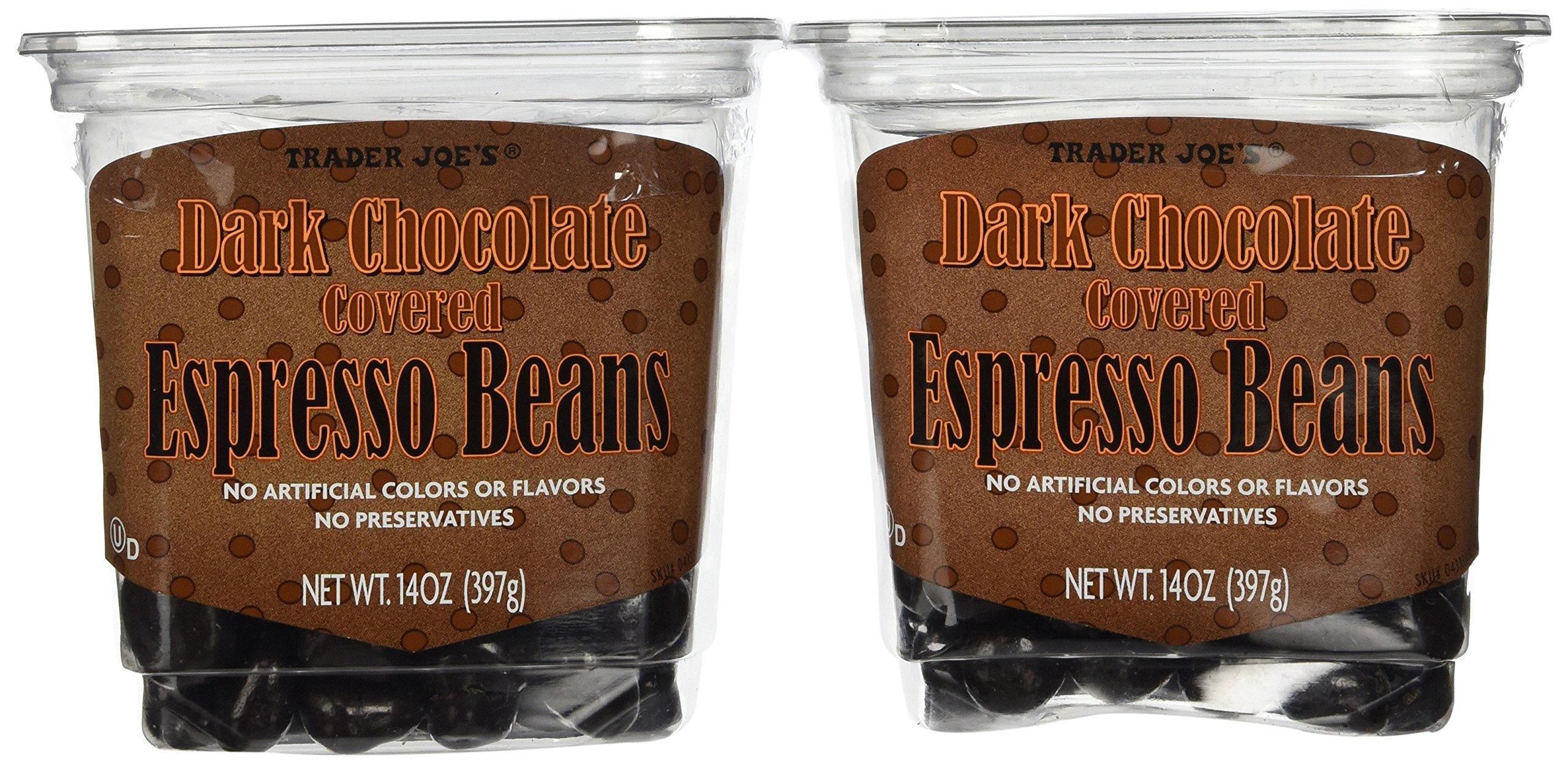 Trader Joe's Dark Chocolate Covered Espresso Beans, 14oz. (2 pack) by Trader Joe's