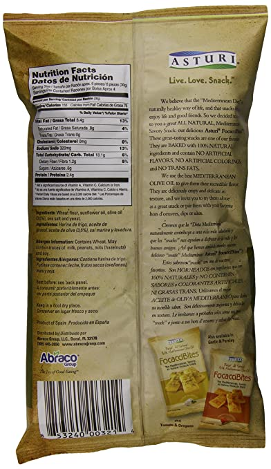 Amazon.com : Asturi Focaccibites, Olive Oil and Sea Salt, 4.23 Ounce : Grocery & Gourmet Food