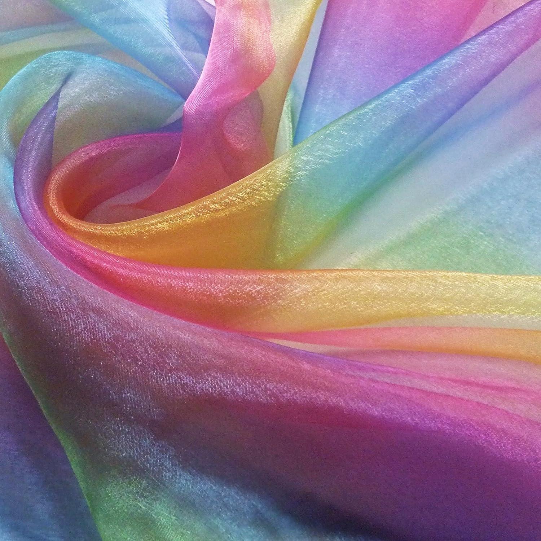 Rainbow Organza (Voile) Fabric (Per Metre): Amazon.co.uk: Kitchen U0026 Home