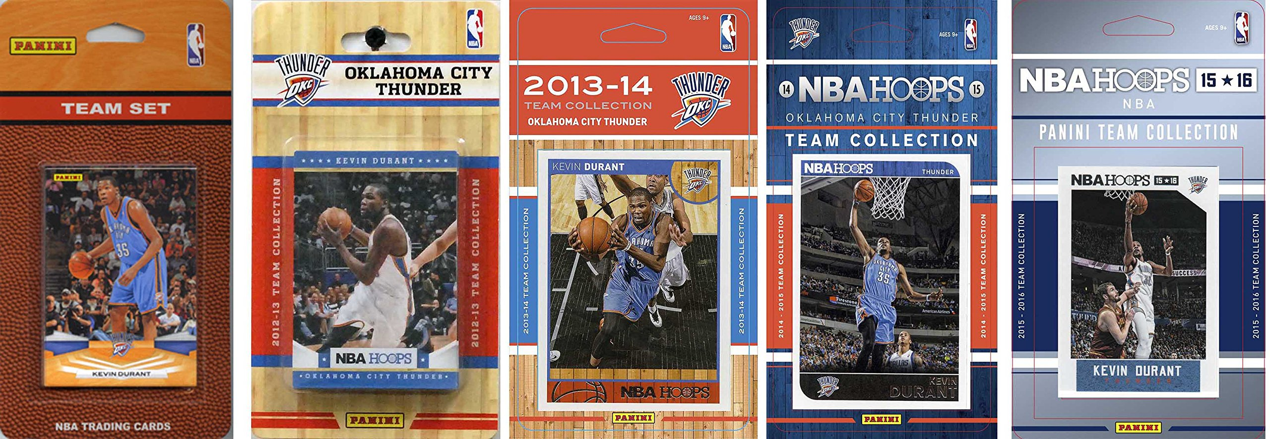 C&I Collectables NBA Oklahoma City Thunder 5 Different Licensed Team Set Trading Card