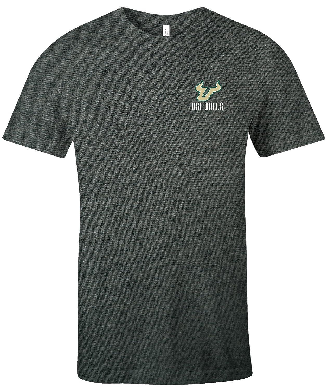 Medium,DeepHeather NCAA South Florida Bulls Womens Double Pattern Scroll Favorite Short sleeve T-Shirt