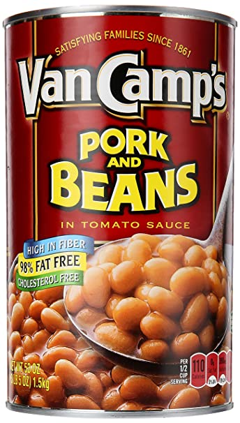 How do you make baked beans with van camps pork and