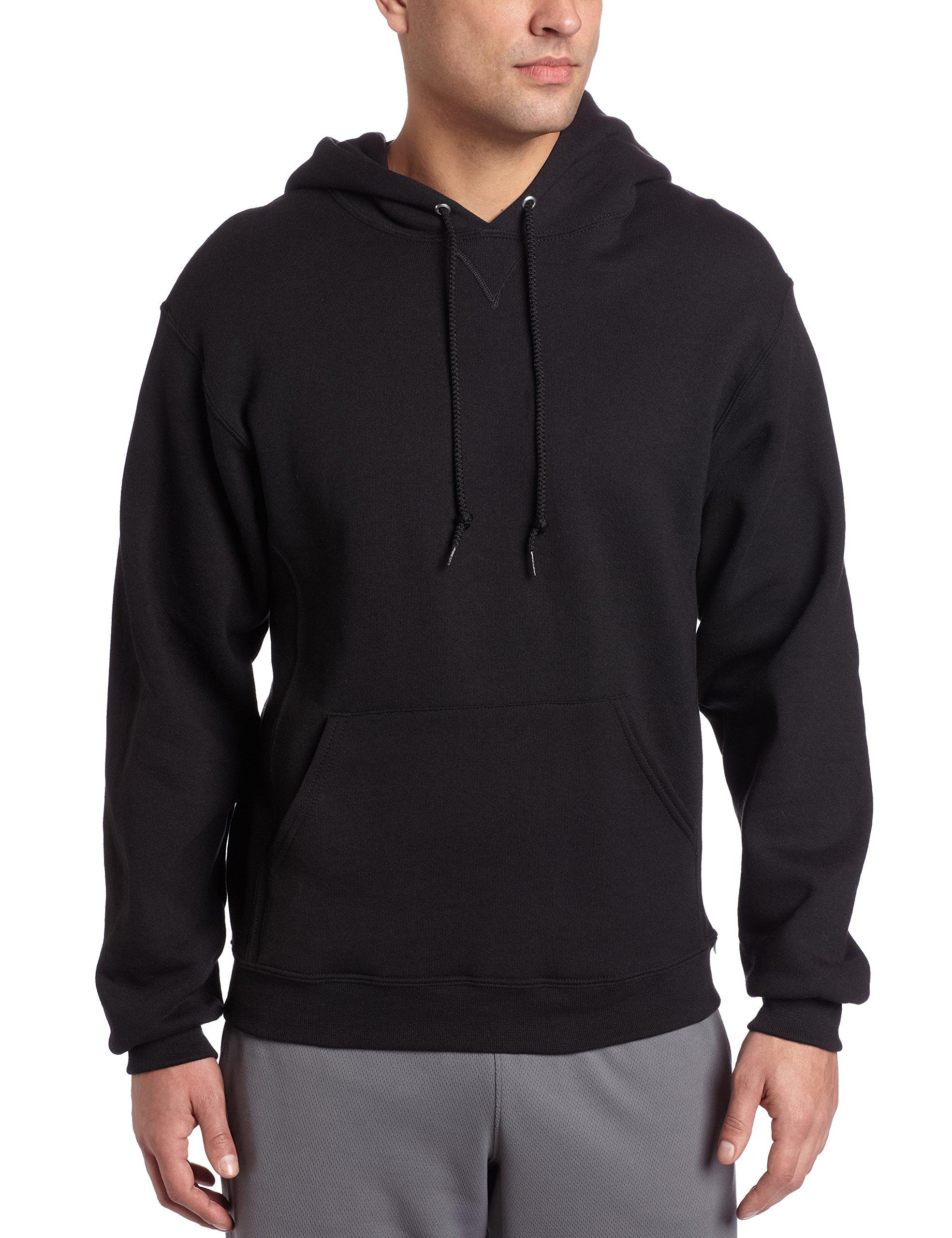 Russell Athletic Men's Dri-Power Pullover Fleece Hoodie, Black, Large