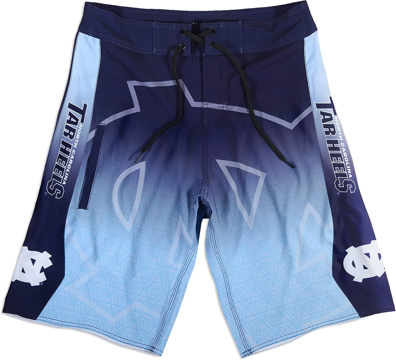 FOCO KLEW NCAA North Carolina Tar Heels Gradient Board Shorts