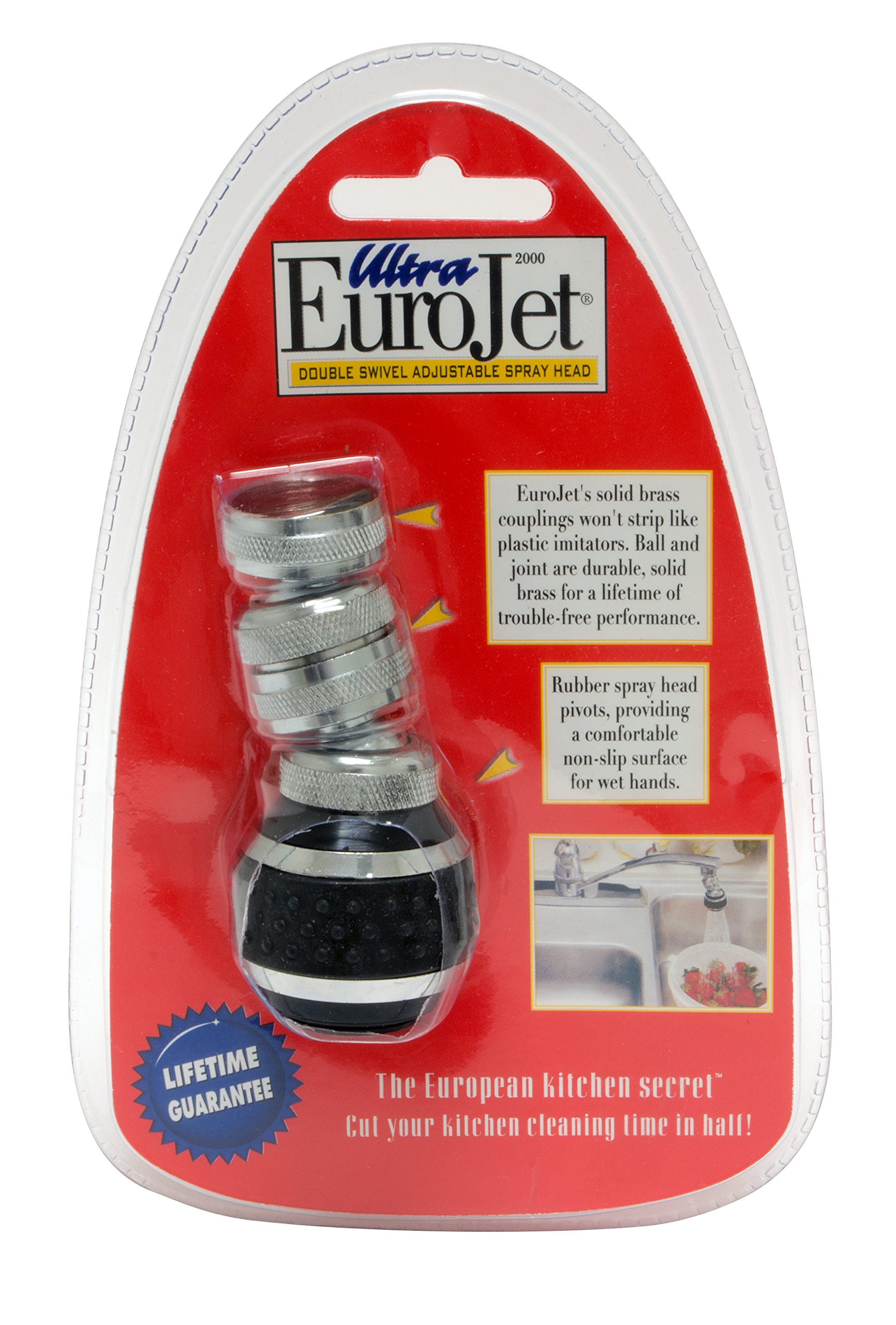 Ultra EuroJet Kitchen Sprayer, Black