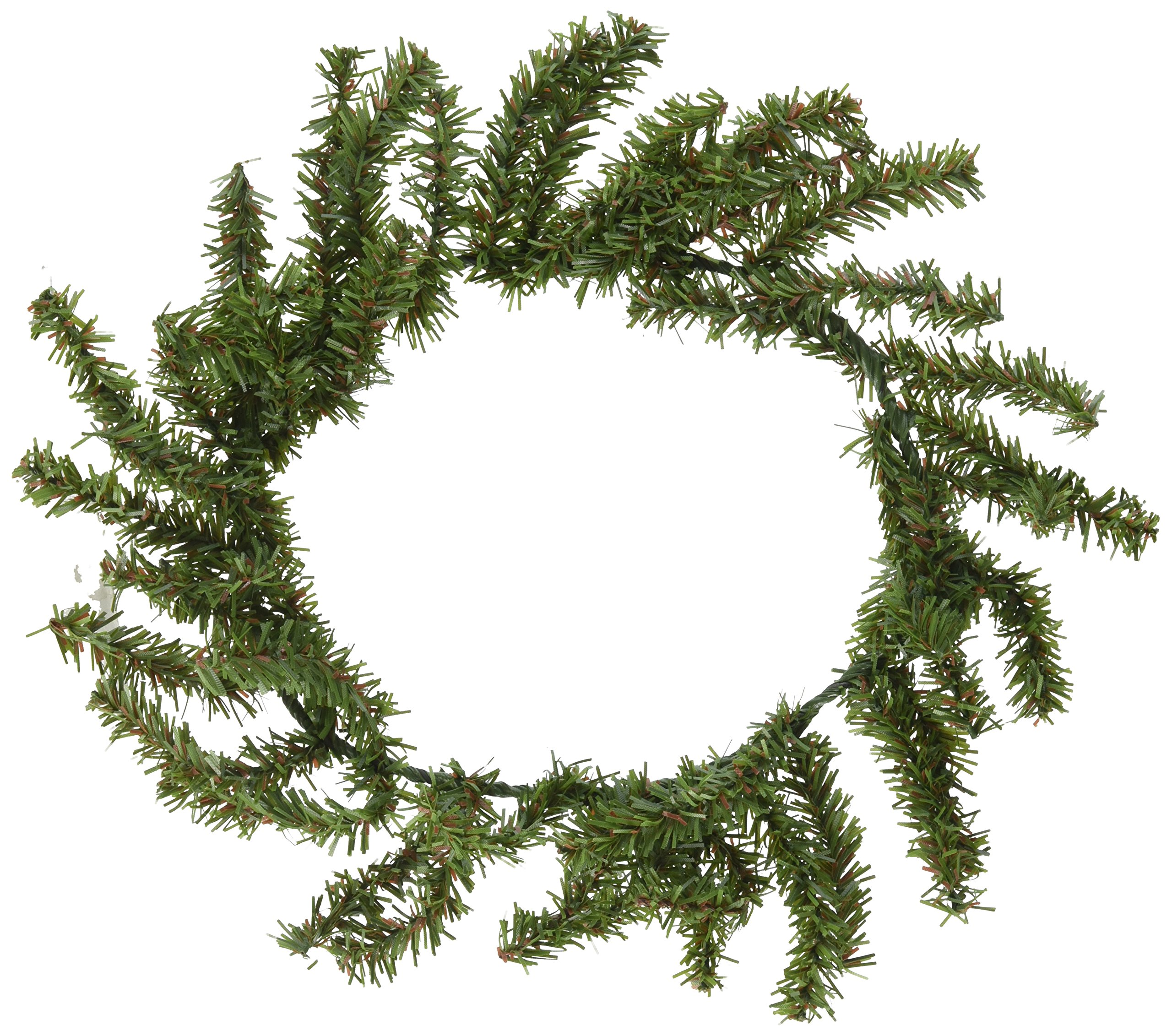 Canadian Pine Wreath - 60 Tips - Green - 10 inches (1 pack)