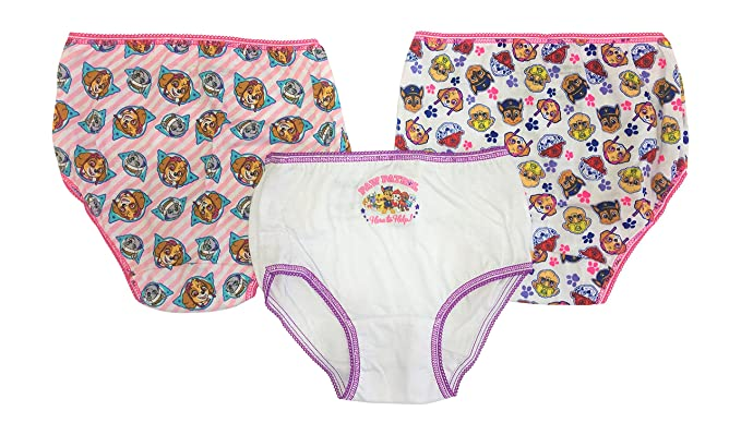 7 Pack Girls Underwear Briefs Nickelodeon Paw Patrol