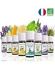 Aceites Esenciales Aromaterapia Set de Regalo Aceite Perfumado Lavanda, Eucalipto, Limón, Menta, Árbol de Té, Naranja, Lavanda, Citronela de Java Difusor Aceites Esenciales Ambientador Mearome