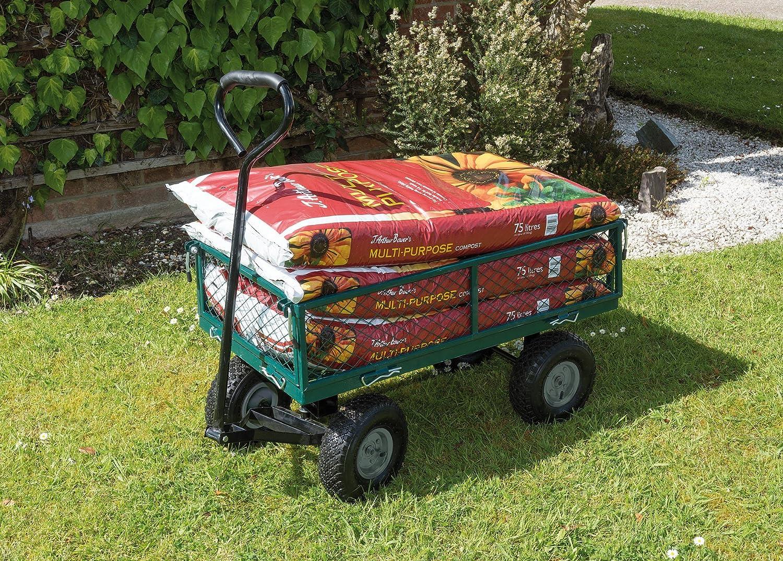 Draper Steel Mesh Gardeners Cart - Green DRA58552