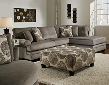 Amazon.com: Chelsea Home Muebles Rayna 2-Piece Seccionales ...