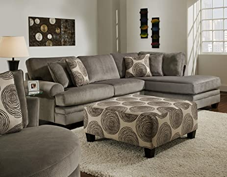 chelsea home furniture rayna 2piece sectional groovy smokebig swirl smoke