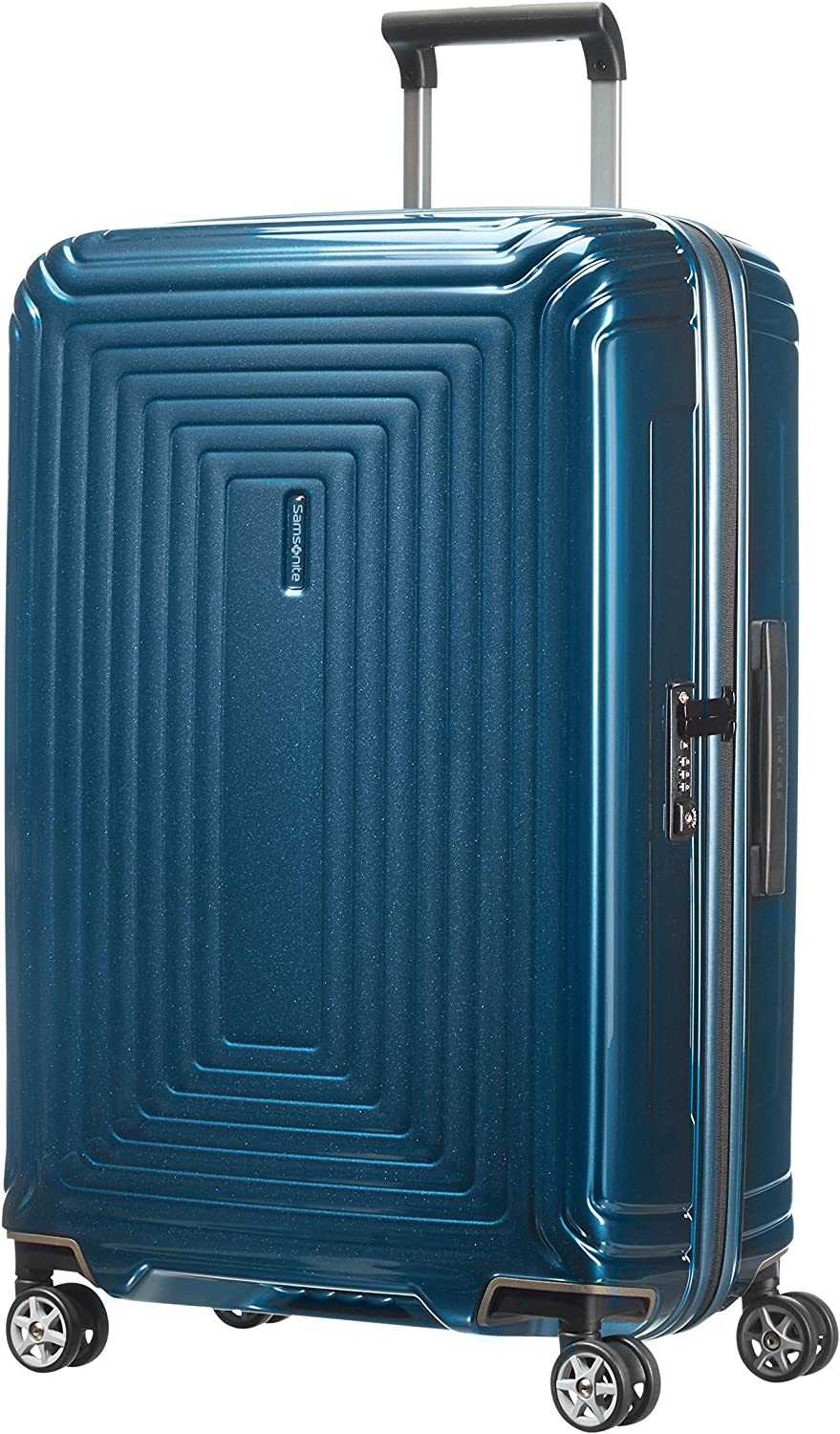 Samsonite Neopulse - Spinner M Maleta, 69 cm, 74 L, Azul (Metallic Blue)