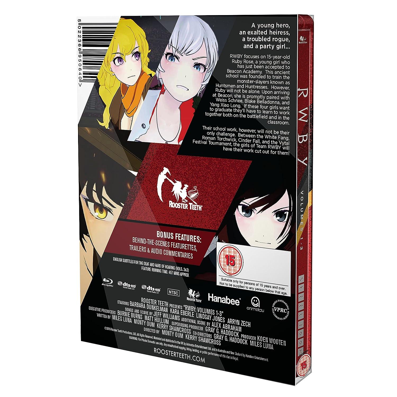 RWBY: Volume 1-3 Steelbook Blu-ray: Amazon co uk: Lindsay Jones