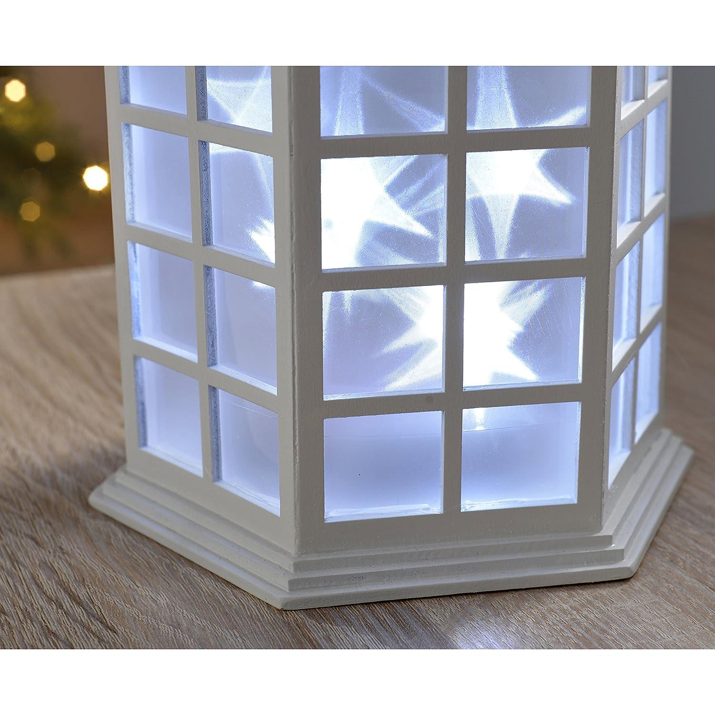 WeRChristmas D/écoration de No/ël Lanterne /à LED Blanc